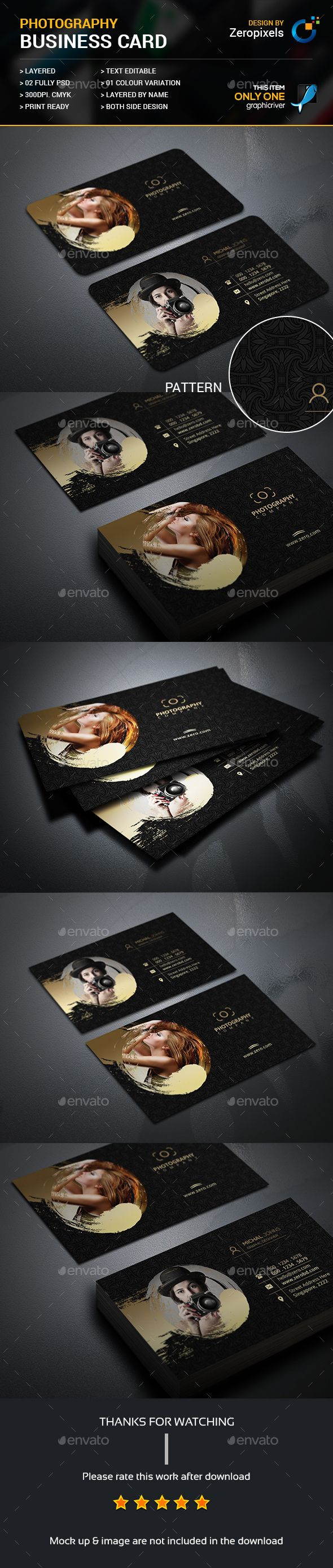 Creative Photography Business Card Template PSD. Download here: https://graphicriver.net/item/creative-photography-business-card/17494508?ref=ksioks