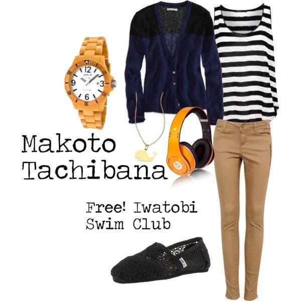 """Makoto - Free! Iwatobi Swim Club"" by amistel19 on Polyvore"