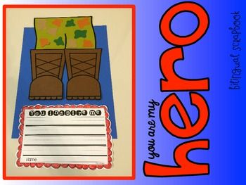 You Are My Hero {Veterans Day Craft in English and Spanish}
