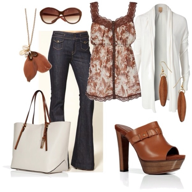 Brown & WhiteCasual Outfit, Style, Clothing, Fashion Design, White Outfit, Design Schools, Cute Outfit, Spring Outfit, Dreams Closets