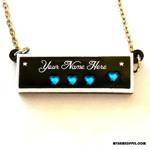 Write Name On Diamond Necklace DP Image  Print Your Name