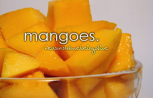 I don't like fresh mango, but I love frozen, and mango flavored things.