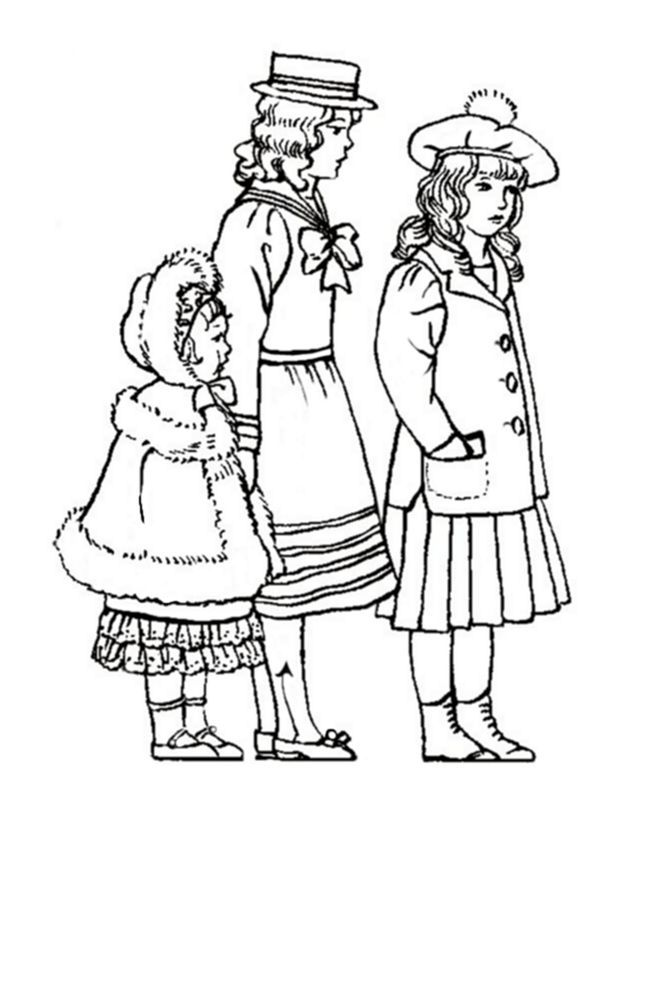 childrens clothes coloring pages - photo#15