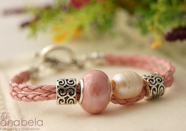 anabela: Pulsera Carina rosa : Menos es más.