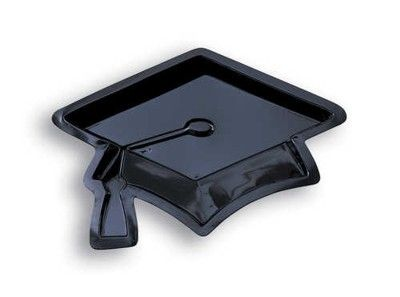 Graduation Mortarboard 11 inch Plastic Serving Tray (12ct) (050761)