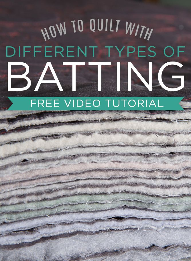 Tutorial: How to Quilt with Different Types of Batting (Man Sewing with Rob…                                                                                                                                                                                 More