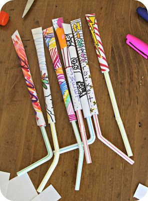 Straw Paper Rockets - simple fun at home combining art and science