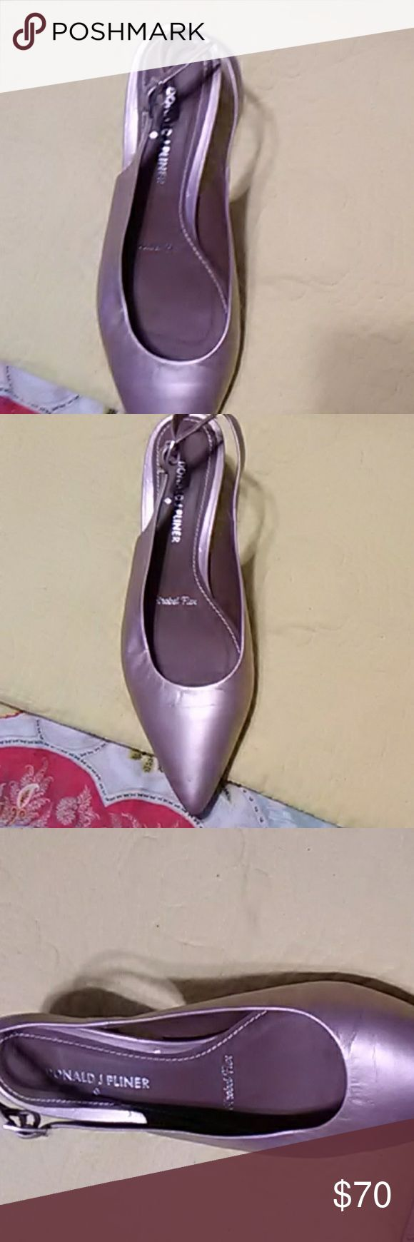 Pair of Donald J  Pliner They are a low heel champagne color shoe Donald J. Pliner Shoes Flats & Loafers