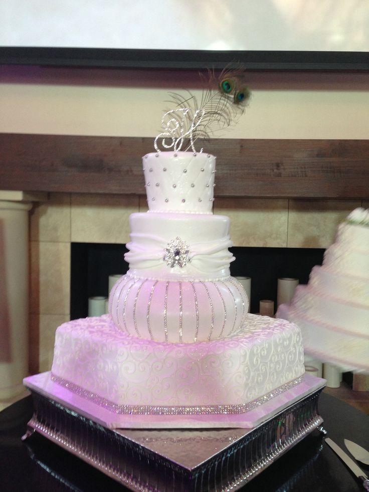 Wedding Cake by Frosted Art at Chapel Ana Villa. www.TexasHarp.com