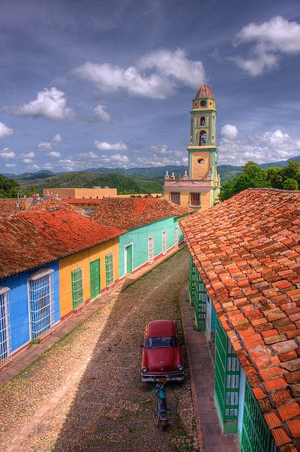 Trinidad in Cuba - colourful small homes. Nowadays, Trinidad's main industry is tobacco processing.