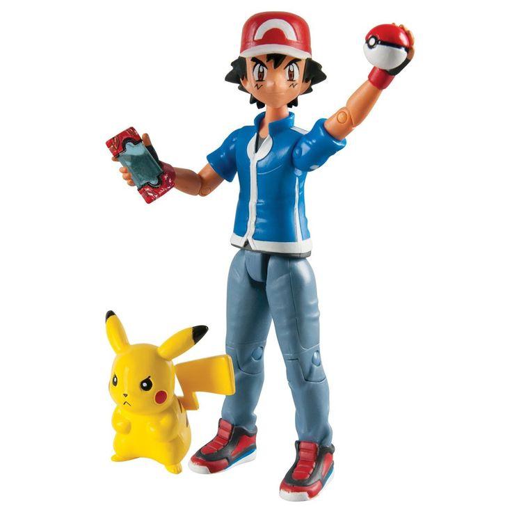 Pack figurine d'action Sacha et Pikachu