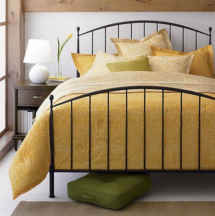 crate and barrel metal bed frame 3