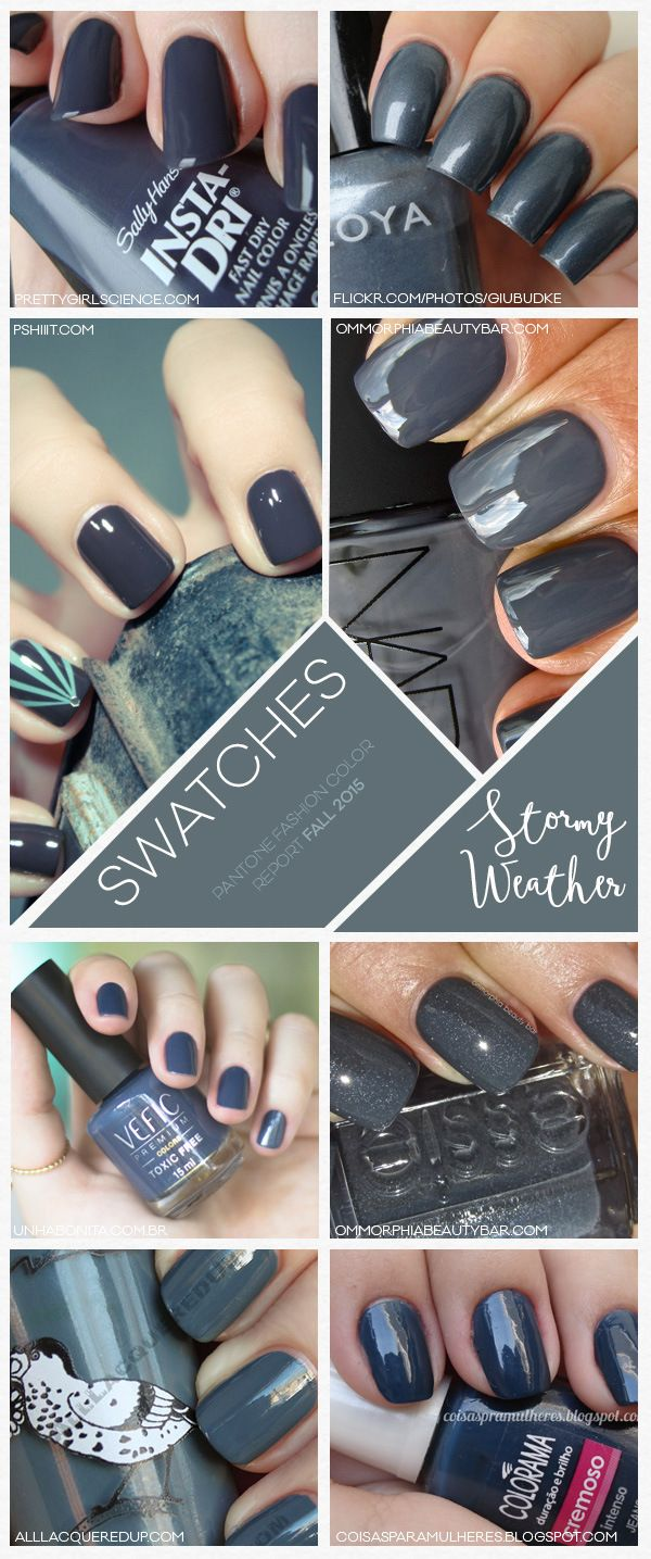 Pantone Fashion Color Report Fall 2015 Stormy Weather