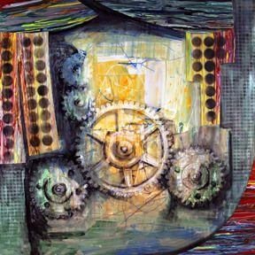 """Saatchi Online Artist Al Razza; Painting, """"Gearilla III"""" #art"""