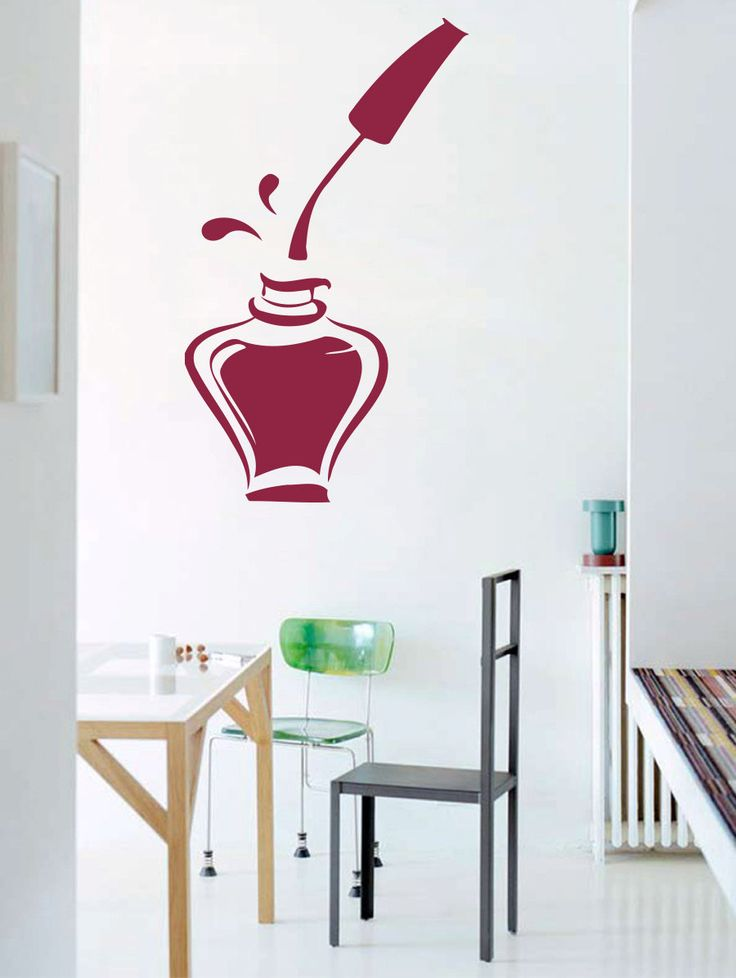 Vinyl+Decal+Bottle+Of+Nail+Polish+For+Beauty+Salon+door