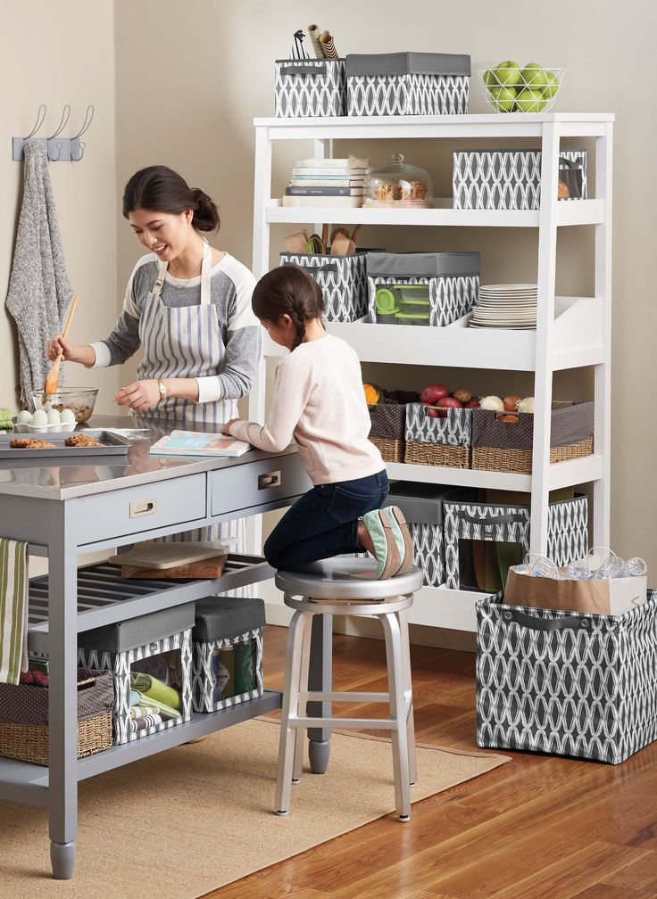 Use Your Way Cubes to organize your pantry and cooking area.