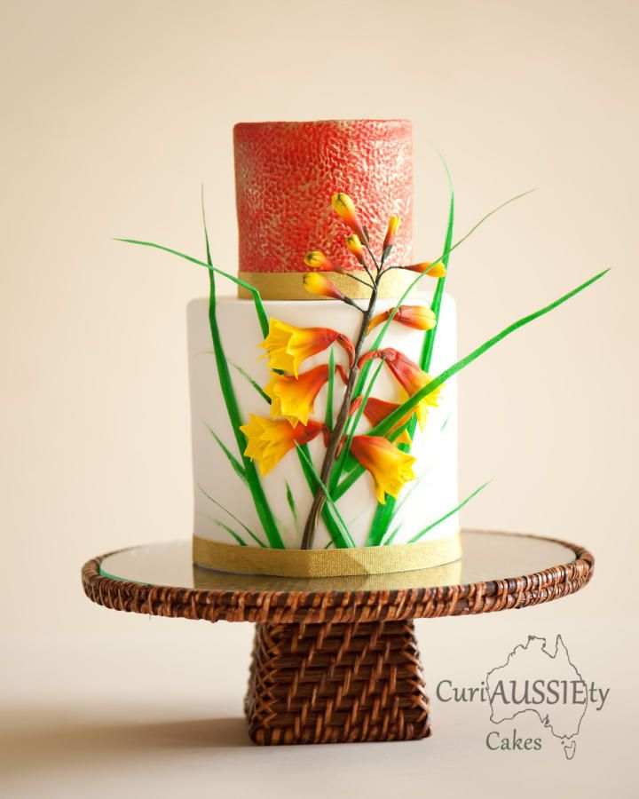 Super cake mom's collaboration...Australian Christmas Bell wildflower