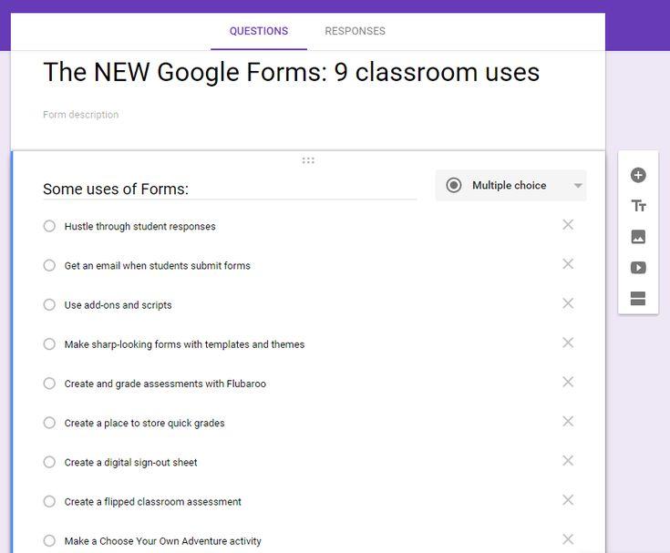 246 best Google Classroom images on Pinterest Classroom ideas - spreadsheet google form