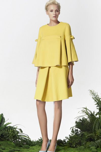Yellow Wool Top, Yellow Wool Skirt, Xmas outfit, New Year outfit! http://www.lastyleloft.com/online/shop-by-designer/vanessa-cheung/