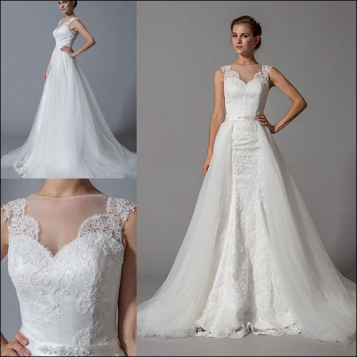 Wedding Dresses that Have Detachable Skirts