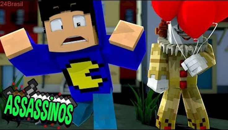 Minecraft: PALHAÇO ASSASSINO - IT (Assassinos)
