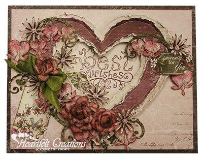 Heartfelt Creations   Best Wishes Heart Card