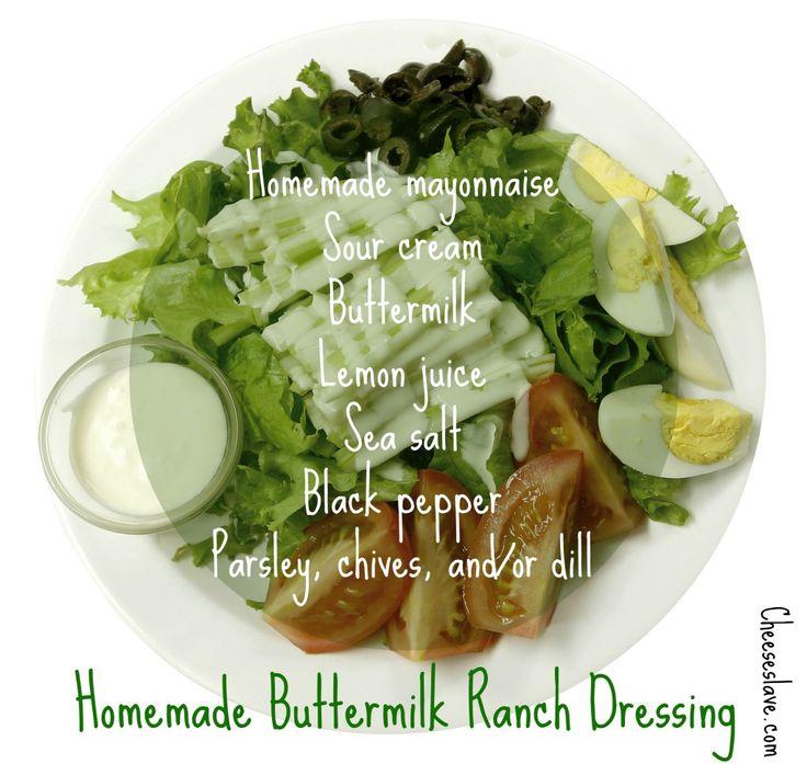 ... Ranch / http://www.cheeseslave.com/homemade-buttermilk-ranch-dressing