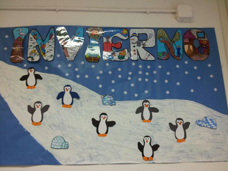1000 images about invierno on pinterest navidad search - Mural navidad infantil ...
