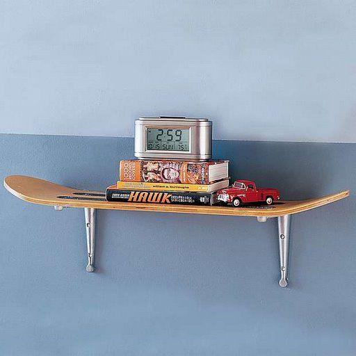 Skateboard Shelf 85 best skateboard furniture images on pinterest | skateboard