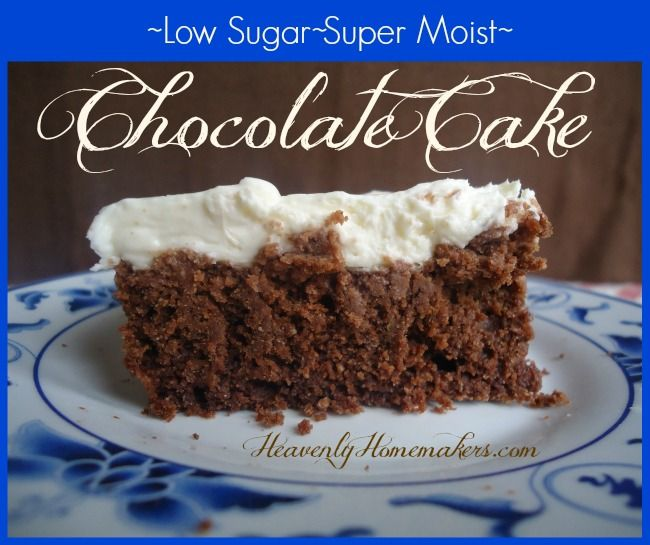 I took our favorite chocolate cake, substituted whole wheat flour, and cut down the sugar significantly. It tastes so good, no one can tell it is much healthier!