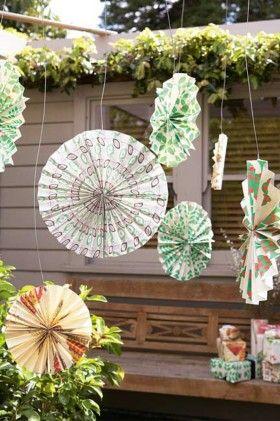 Patterned paper pinwheels