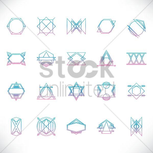 set of logo elements Stock Vector