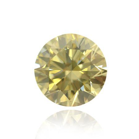 Yellow Diamond, Round, Fancy Light Brownish Orangy Yellow, 3.03 Carat