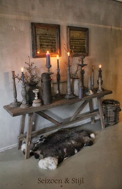 just an idea for a scandi look for Bjorks decs maybe on twig hanging over loads of different candles