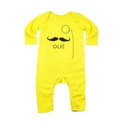 Estella devon  baby rompers with mustache print