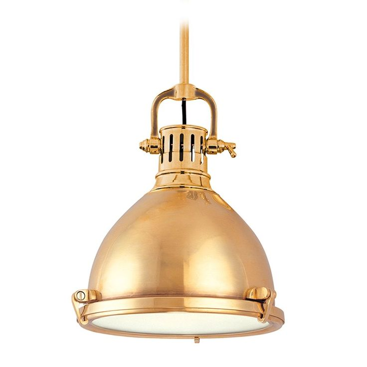 Hudson Valley Lighting Nautical Pendant Light in Aged Brass Finish 2212-AGB