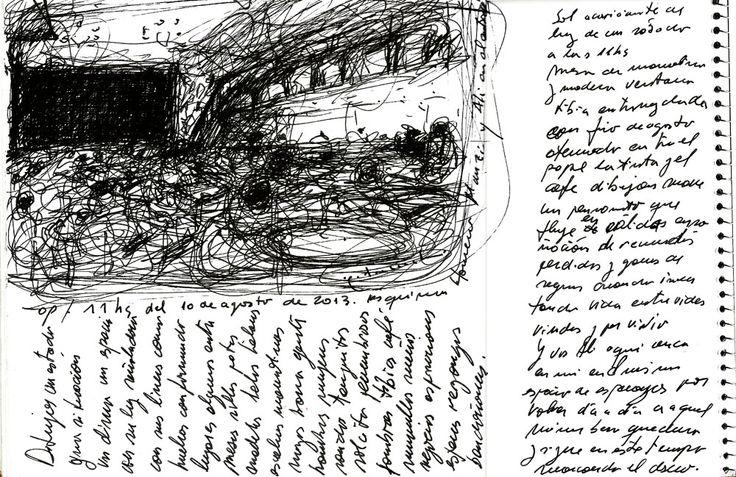 Título: Homero Manzi letra y croquis Técnica: tinta s/papel Medidas: 32cm por 22cm Año: 2013