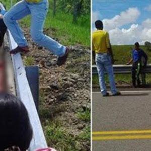 Aparatoso Accidente deja estudiantes al borde de la muerte