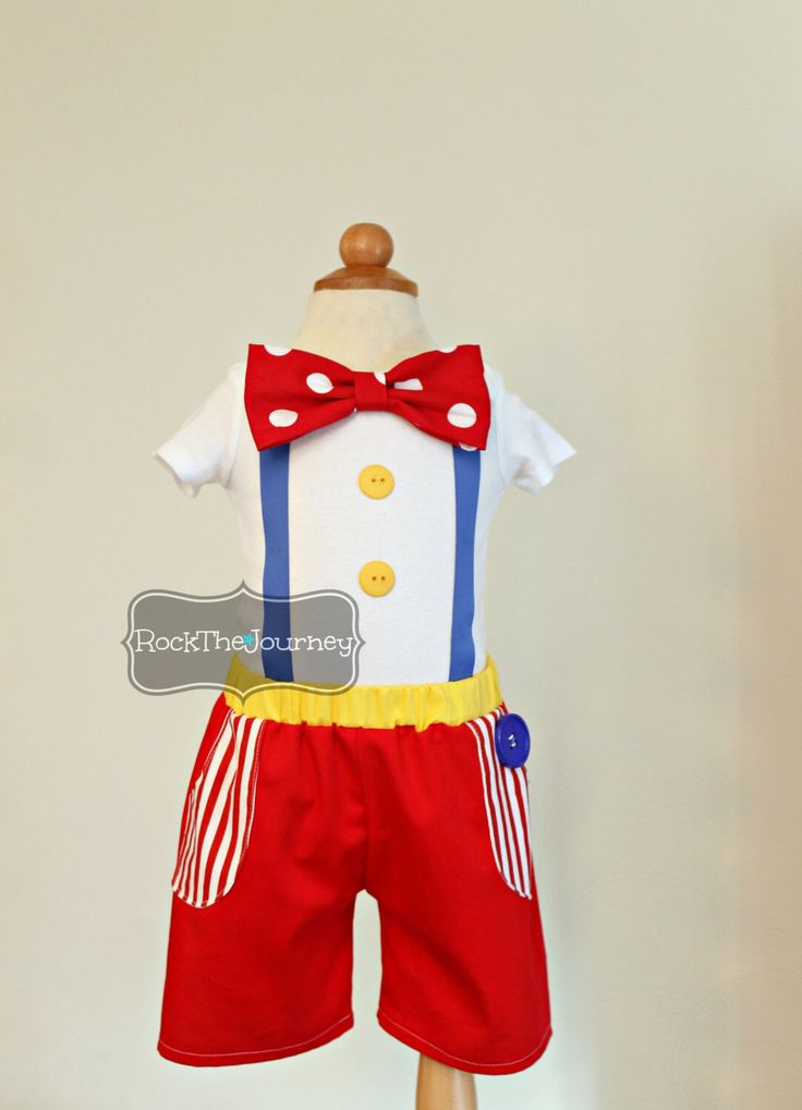 Boy Big Top Circus Birthday Party Boy Outfit | Twins Carnival Clown Cake Smash Set Halloween Pageant Costume Baby Toddler First 1st 1 2 3 by RockTheJourney on Etsy https://www.etsy.com/listing/251829779/boy-big-top-circus-birthday-party-boy