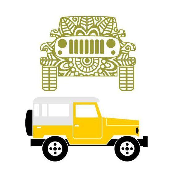 Download Jeep Mandala Cuttable Design SVG PNG DXF & eps Designs ...