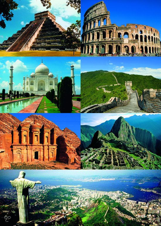 the seven wonders of the world - 550×771