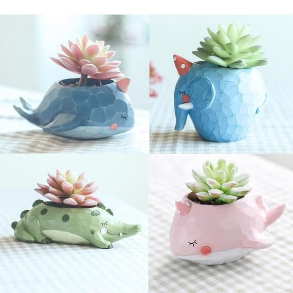 Pot de fleur mini pots animal Cat Céramique plante grasse cactus plante jardin
