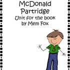 Wilfrid Gordon McDonald Partridge (A unit for the book written by Mem Fox)