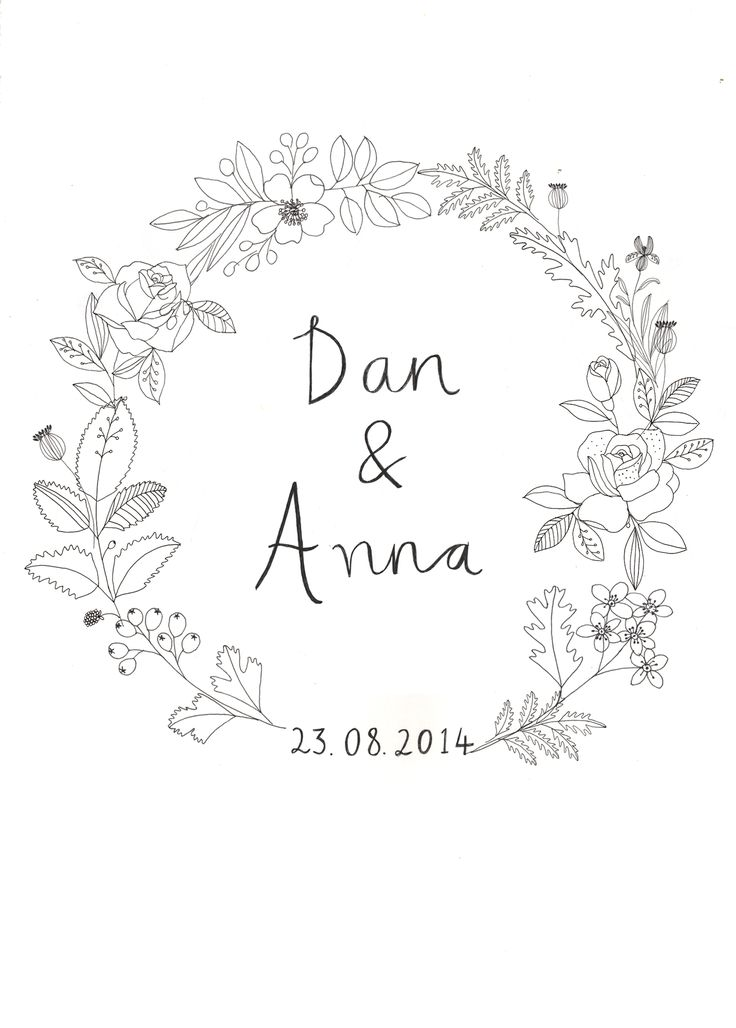 Wedding invite designed by Ryn Frank www.rynfrank.co.uk