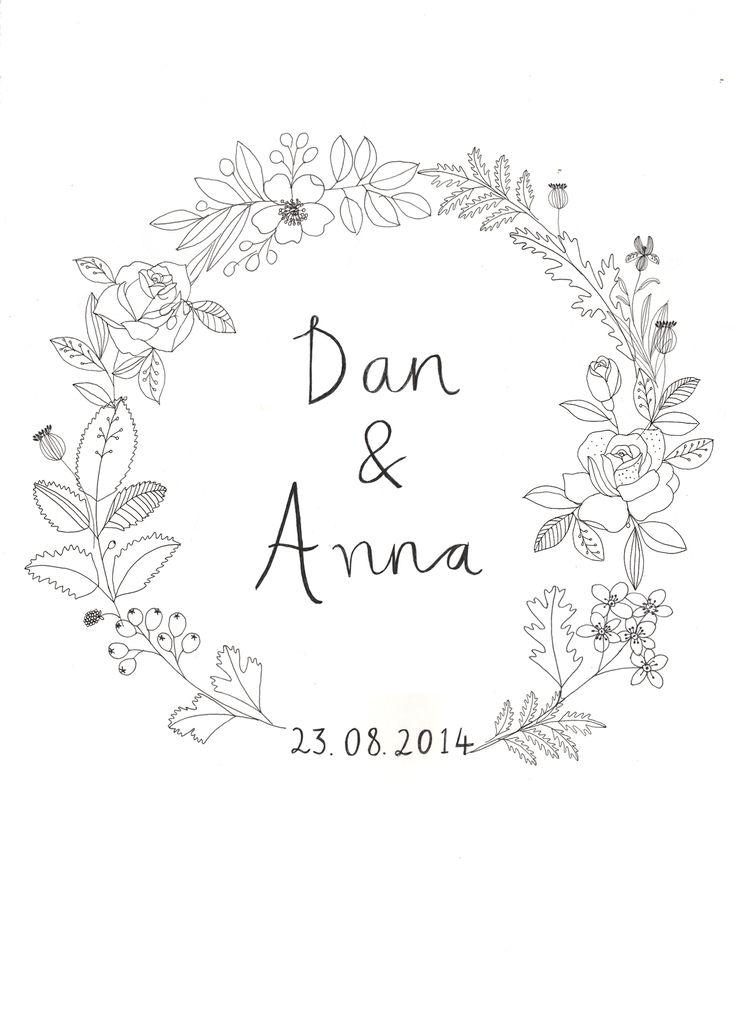 Wedding invite designed by Ryn Frank www.rynfrank.co.uk