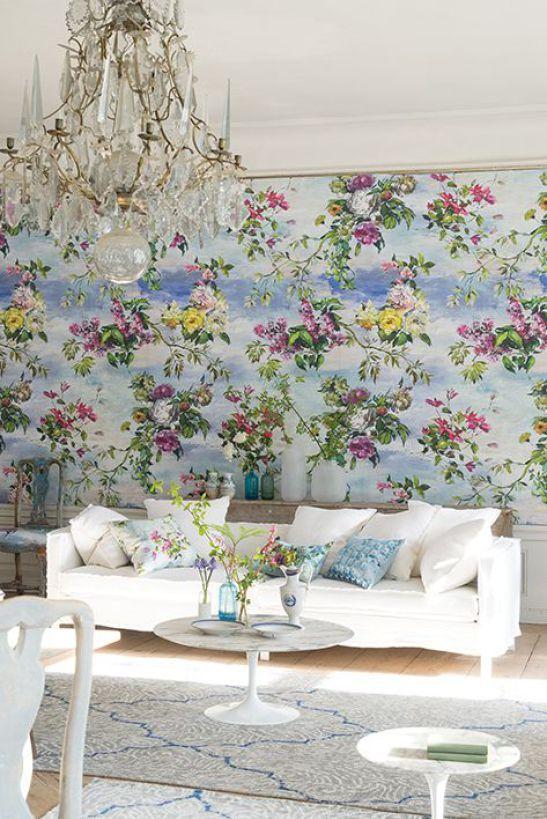 Flora home decor trend - floral wallpaper - interior trends 2016 - ITALIANBARK interior design blog #flowerdecor #wallpapers #floralwallpaper Designers guild
