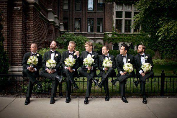 padrinos de boda con flores