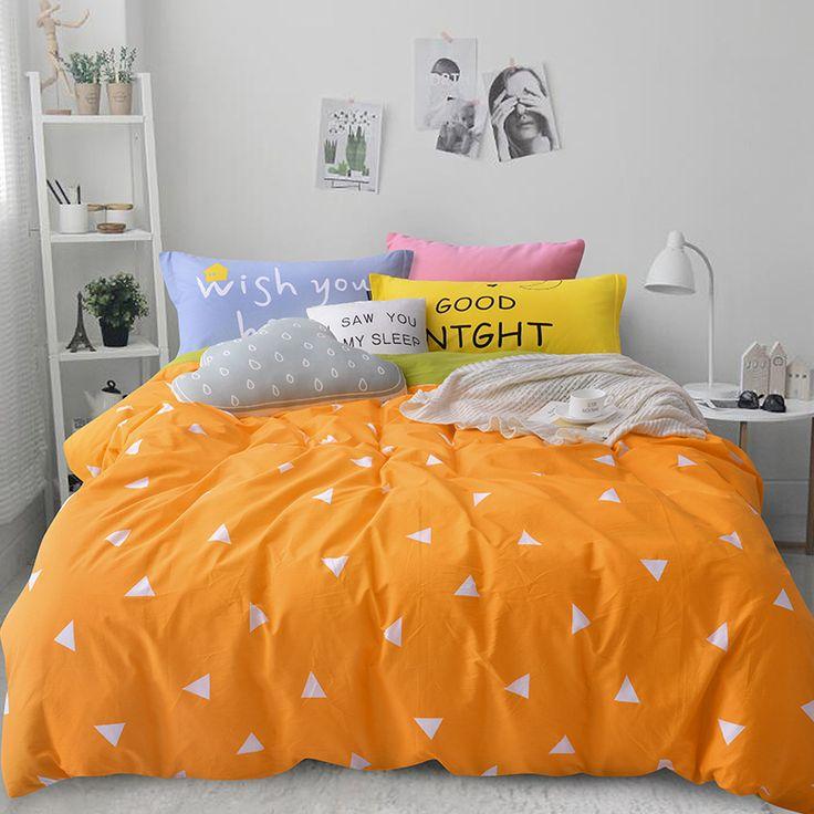 Nordic jogo do fundamento 4 pcs para queen size de solteiro 100% algodão dos desenhos animados crianças capa de edredão set roupa de cama folha de cama colcha lençol em Conjuntos de cama de Home & Garden no AliExpress.com | Alibaba Group