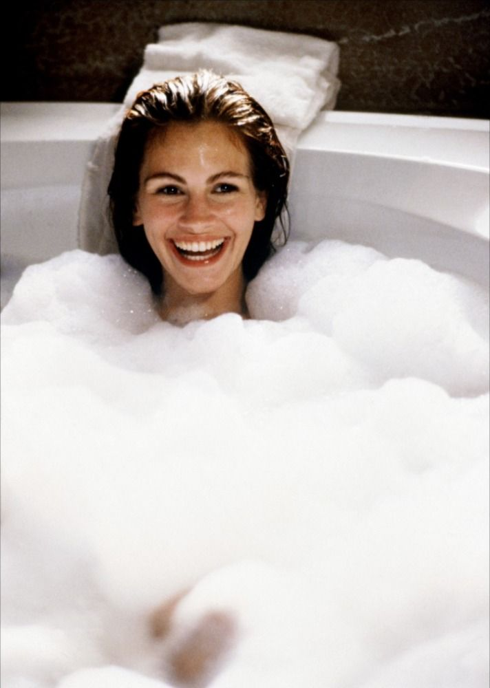 Pretty Woman. Favorite part in the whole movie for me, is when he catches her singing in the bathtub! <3 So damn adorable!!!! :D