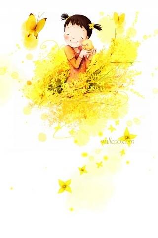 sunny yellow desktop wallpaper